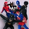 Crianças Halloween Capitão América Spiderman Traje Cosplay Crianças Altman Superman Batman Zorro Traje Desgaste Parte