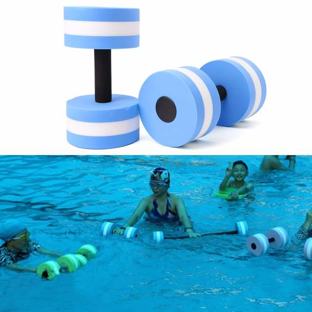 9823a98f72 placeholder 1 Pair Water Aerobics Dumbbell Medium Foam Aquatic Barbell  Fitness Pool Exercise Aerobice Exercise Dumbell