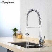 Superfaucet кухонный кран тянуть вниз, водопроводной воды кухня, кухня смеситель, кухня смеситель для душа, выпадающее кухней коснитесь HG-6523