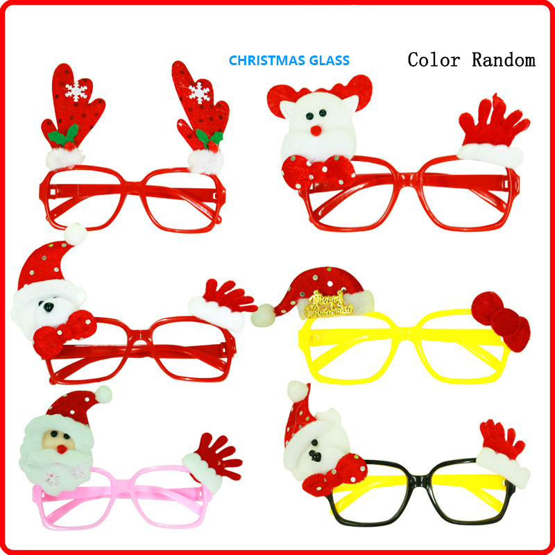 Novelty Glasses Frame for Cosplay Costumes Accessories for Halloween and Christmas For A Fun Christmas Experience Gift Random