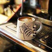 Porcelain tail mug cup cat mugs dog rabbit tail coffee mug