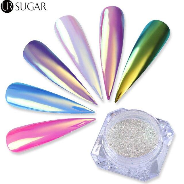 0.2g neón unicornio Brillos de uñas Polvos de maquillaje Chameleon ...
