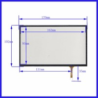 XWT516 7 zoll 4 linie Für Auto DVD touchscreen panel 170mm * 102mm dies ist kompatibel 170*102 TouchSensor FreeShipping|Tablett-LCDs und -Paneele|   -