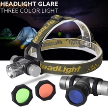 MA 10 Shining Hot Selling Fast Shipping   3 Lampshade CREE XM-L XML Q LED Headlamp Headlight flashlight head light lamp