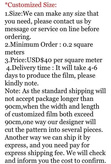 Autocollant de porte de film de fenêtre de Film de verre/différence de prix