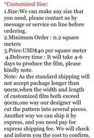 Glass film Window Film Door sticker/price difference