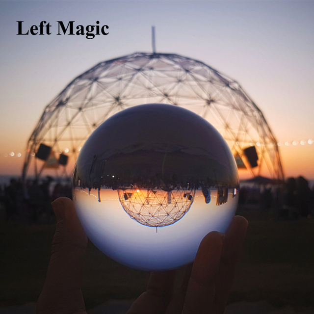Ultra Clear Acrylic Crystal Ball 100MM Contact Juggling Magic Tricks For Professional Magician Magie Illusion Toy Accessories