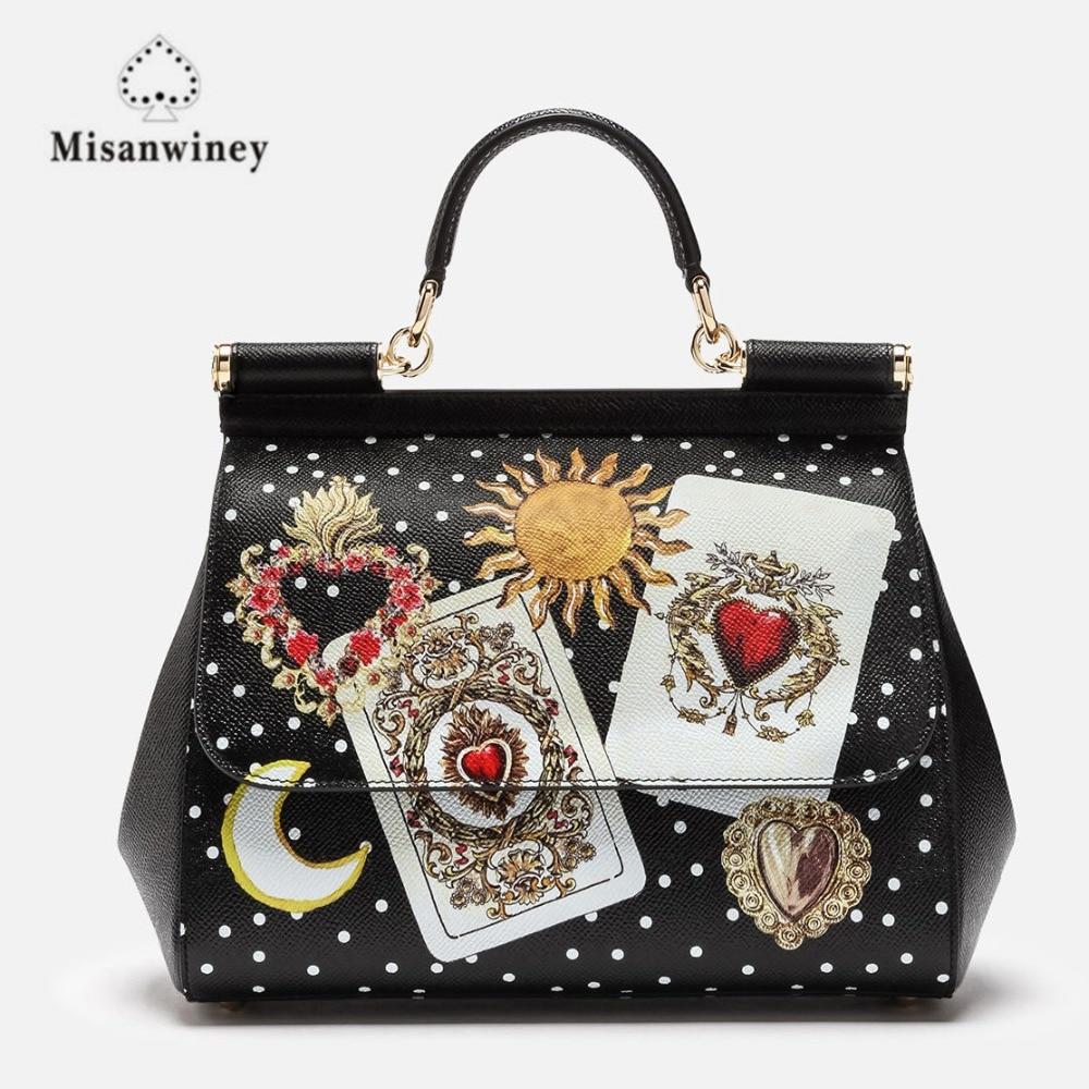 купить New Leather women handbag luxury handbags women brand bag high quality Free Shipping по цене 7048.62 рублей
