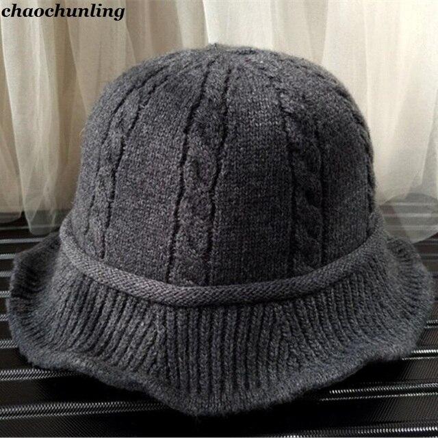 3fb7f95fb80 2018 New Winter Women Kintting Hats Super Warm Lady Fashion Imitation Wool  Hats Black