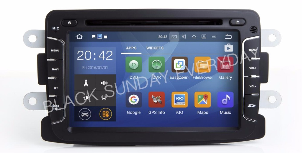 Android7.1!! Quad-core 2G RAM 16G ROM 7inch HD 1024*600 Car Dvd Gps Player For Dacia Renault Duster Logan Sandero Free Shipping