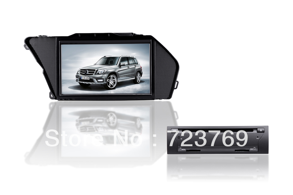 Lecteur DVD de voiture système de Navigation GPS lecteur Audio de voiture système vidéo médias stéréo pour mercedes-benz GLK X204 (2013)
