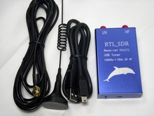 Nieuwe Versie 100 KHz 1.7 GHz UV HF volledige band software radio RTL SDR ontvanger RTL2832 + R820T2 usb tuner