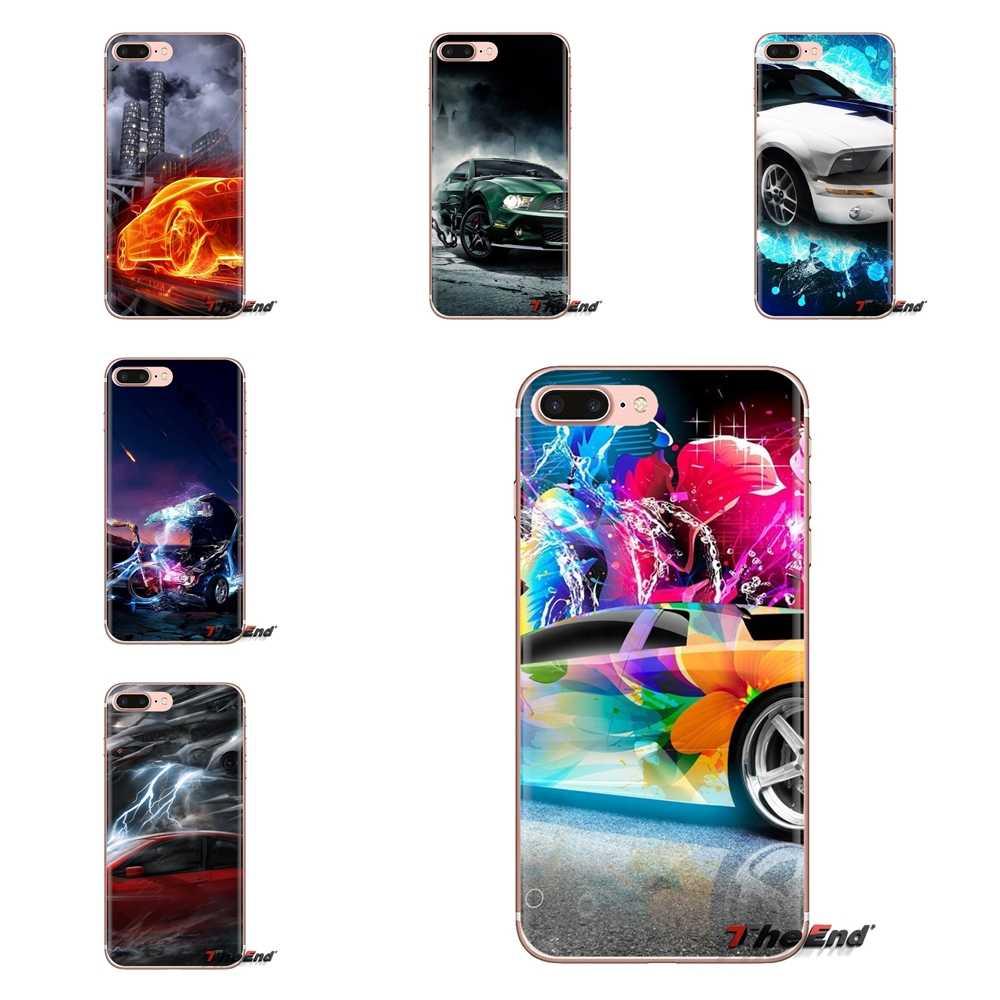 Para Samsung Galaxy J1 J2 J3 J4 J5 J6 J7 J8 Plus 2018 primer 2015 de 2016 de 2017 de casos transparentes cubre abstracto Coche