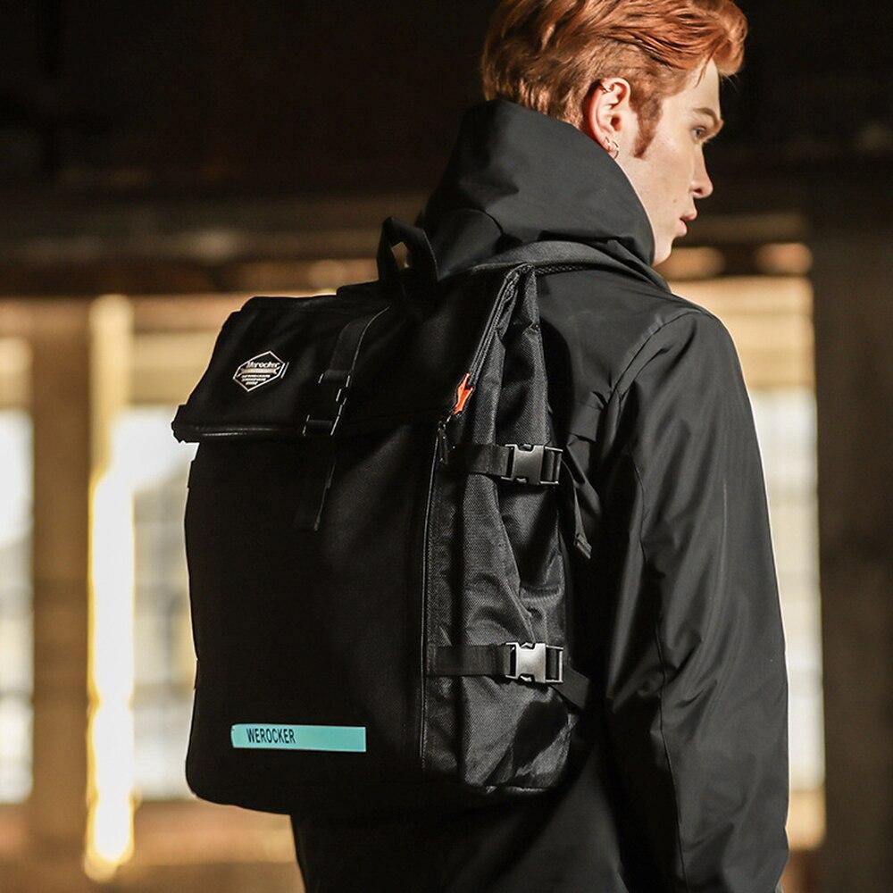 Version coréenne créative du sac à dos femme marée mode mouche morte sac d'étudiant lumineux homme Hip Hop sac à dos d'équitation