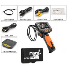 Free Shipping!  NTS200 3.5inch Monitor Dia 3.9mm Snake Camera Endoscope Inspection Borescope Cam 3M Long+8GB TF Card
