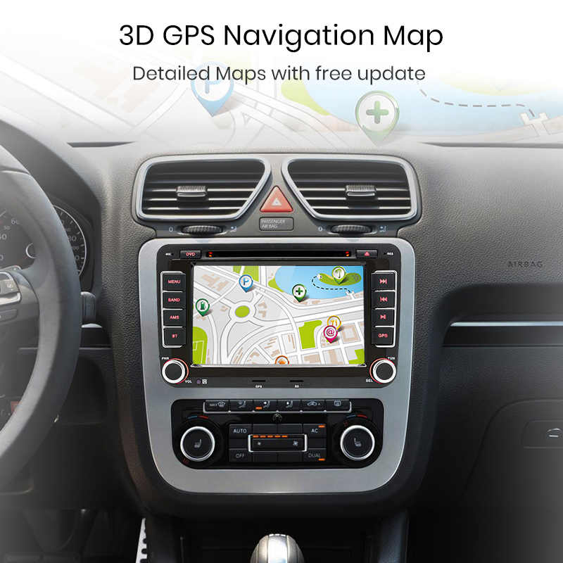 Junsun 2 din auto Radio Multimedia Player GPS para Volkswagen passat b6 VW golf Touran polo sedan Tiguan jetta Android DVD