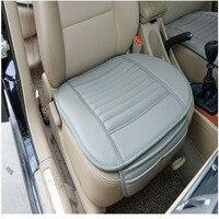 Siedzisko fotela kierowcy samochodów Bambusa Węgiel Samochodów Przednia Pokrywa Poduszki Poduszki Do siedzenia samochodu Pad skóry odpornej na ścieranie samochód klocki