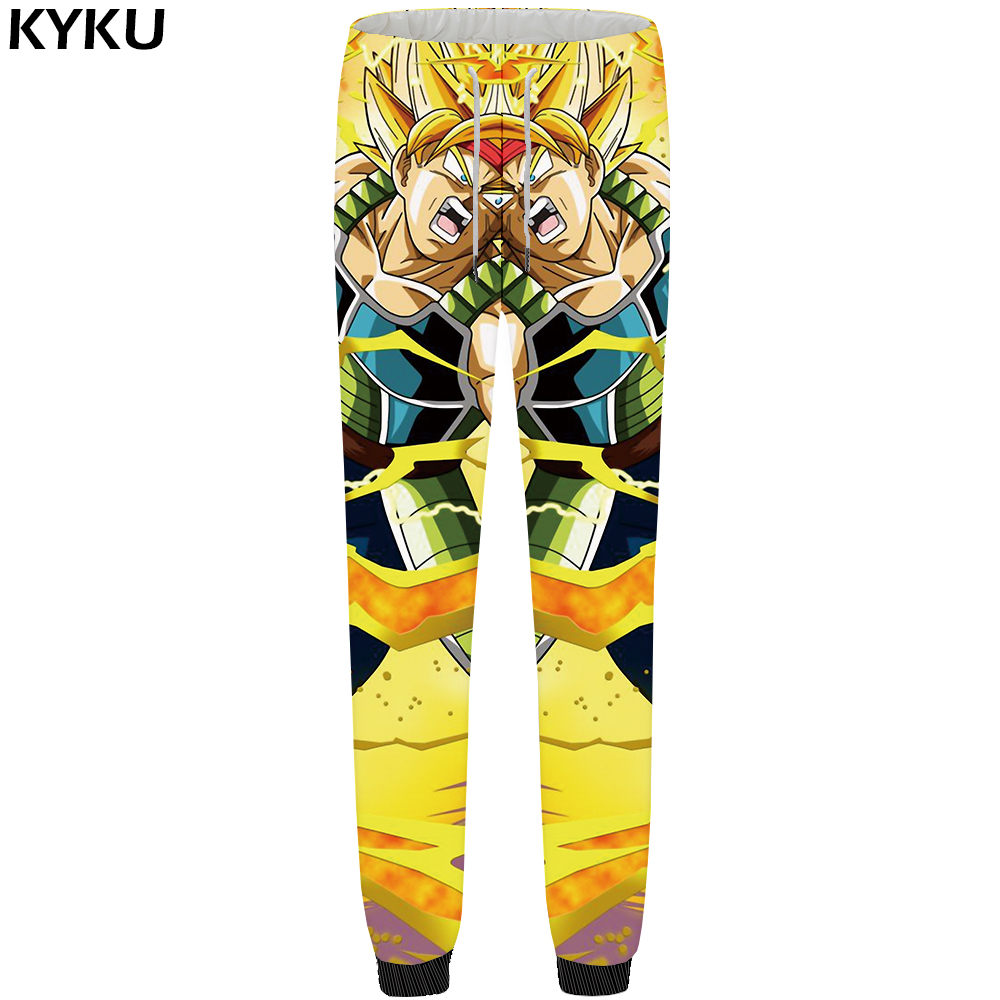 AnpassungsfäHig Kyku Dragon Ball Hosen Männer Goku Jogginghose Krieg Gelb 3d Druck Britches Baggy Bodybuilding Mode Kühlen Herren Hosen 2018 Neue Dauerhafte Modellierung