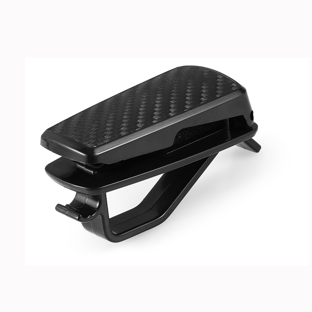 Glasses-Holders Car-Accessories Carbon-Fiber-Pattern Ticket-Card For With Clip 1pcs