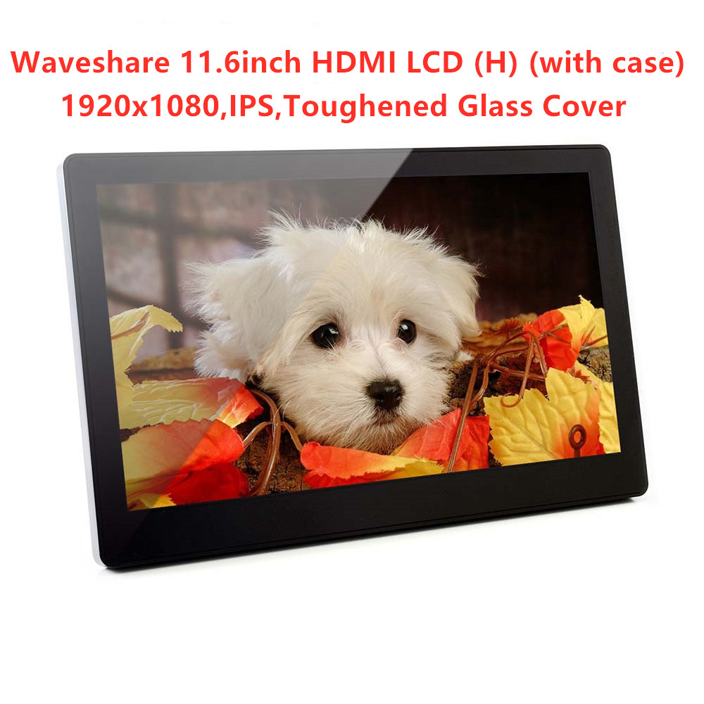 Waveshare 11,6 дюймов, ips, 1920x1080, емкостный сенсорный экран, закаленное стекло крышка, для Raspberry Pi, BB Черный, PC, Windows 10/8. 1/8/7