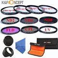58mm Macro Close-up + 1 + 2 + 4 + 10 Set + UV CPL FLD/ND 2 4 8 Filtro kit + lens hood & cap para canon eos/rebel 700d 1100d 1200d 600d t2i t3i