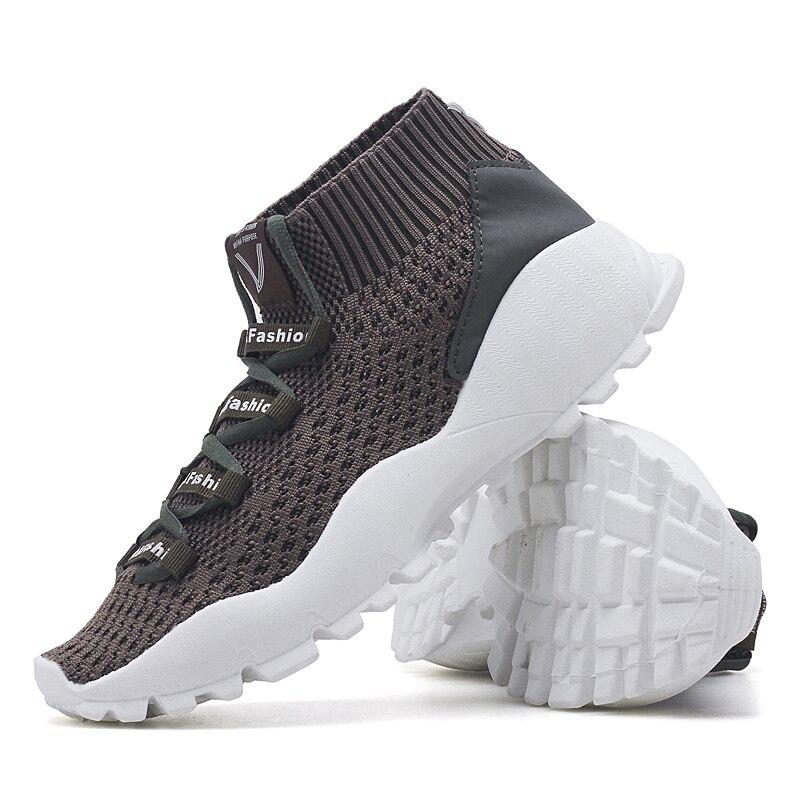 Negro Otoño Zapatos Zapatillas verde Nuevo Tejido Deporte Moda caqui Y Casuales Primavera Calcetines Militar Transpirables De Hombres 2019 Los qZ7twfqO