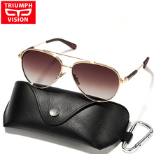 TRIUMPH VISION Gradient Polarized Sunglasses Men Women Brand Designer 2017 New Oculos Shades Male Fashion Brown Sun Glasses