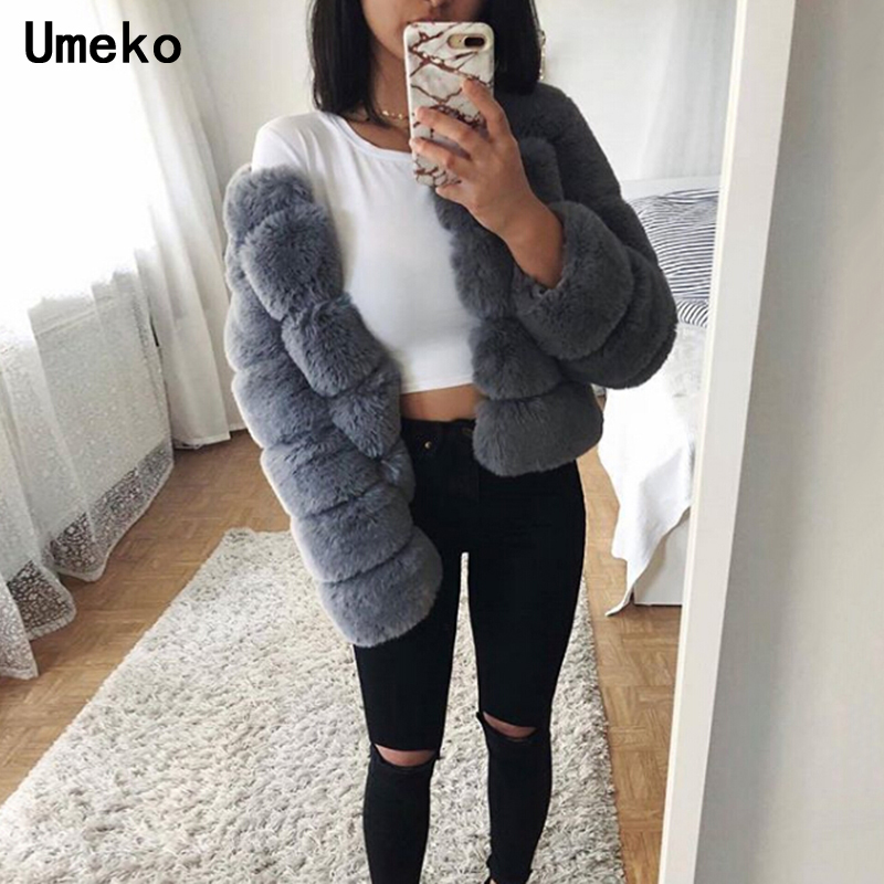 Girls Fake Fur Coat Style 2018 Winter Thick Lengthy Sleeve Plus Measurement Furry Pretend Fur Fluffy Feminine Jacket Outwear