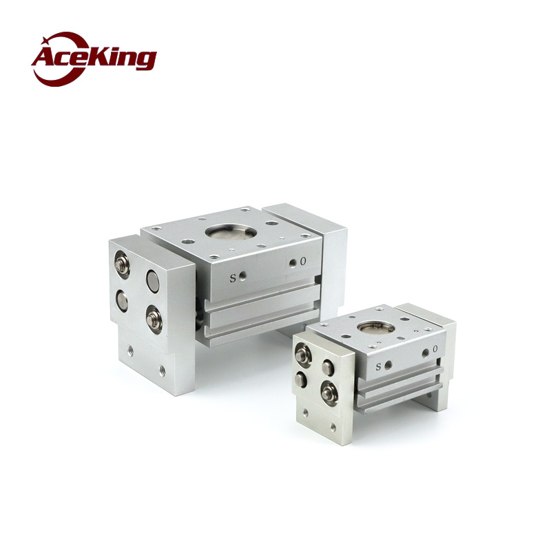 SMC tipo-perfil de largura dedo aperto pneumático MHL2-10d/16d/20d/25d/32d/40d1/ d2 dedo grande-diâmetro de fixação do cilindro pneumático
