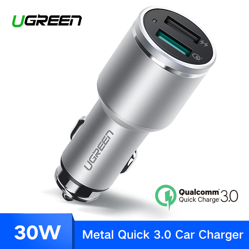 Ugreen Auto Ladegerät Dual USB Quick Charge 3,0 für iPhone X 8 QC 3,0 Auto-Ladegerät für Samsung Galaxy s9 Schnelle Handy-ladegerät für LG