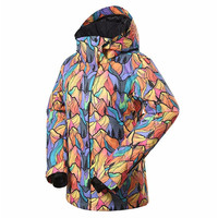 GSOU SNOW Women's Winter Ski Jacket Waterproof windproof Snowboard Jacket Outdoor Skiing Snowboarding Camping Snow Clothes Suit