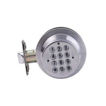 Taquilla Para Dormitorio | Cerradura De Seguridad De Entrada Electrónica Digital Sin Llave Cerradura De Puerta Cerradura De Código Plateado