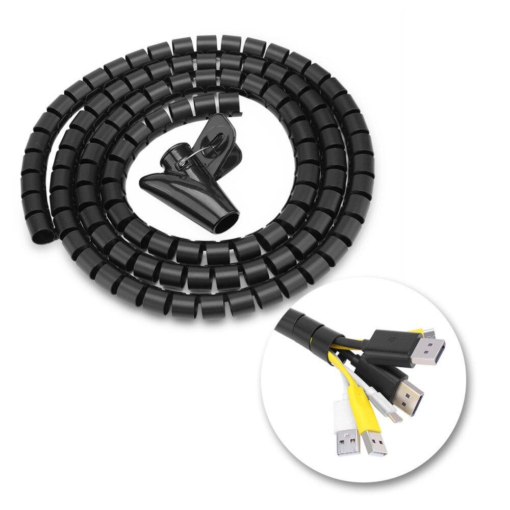 Flexible Spiral Tube Cable Organizer Wire Wrap Cord Protector Wire ...