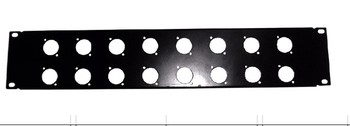 "High quality 4pcs/lot 2U XLR 16 Way Patch Panel 19"" Rack Panel without connectors"