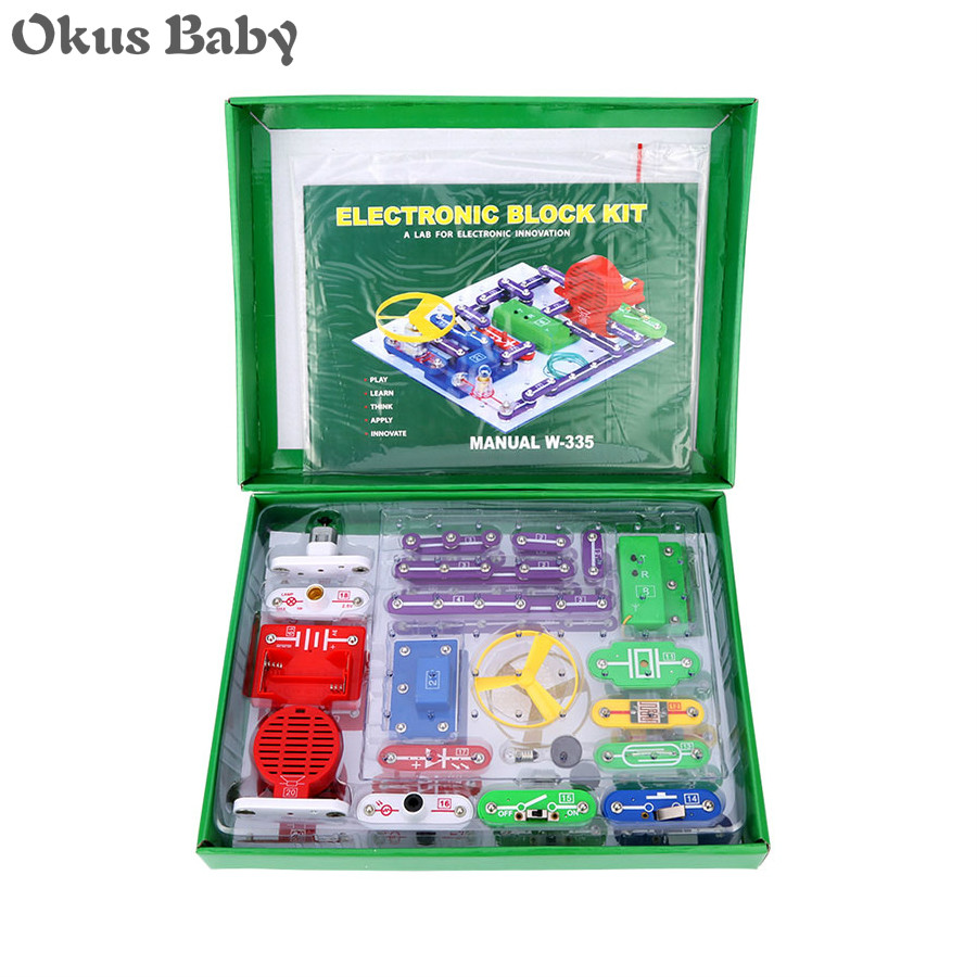 2019 Electronics Discovery Kit Smart Electronics Block Kit Educational Science Kit Toy DIY Building Blocks Electric Circuits Kit