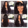 XCSUNNY Long Body Wave Lace Front Human Hair Wigs 180 Density Glueless Full Lace Wigs 28inches 180 Density Human Hair Wig U Part