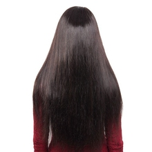 DLME Bleached Silky Straight Brazilian Hair Glueless Lace Front Wigs With Bangs Natural Color For Black Women No Shed Synthetic