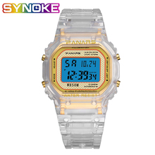 New 2019 Digital WatchTrend Luminous Fashion Transparent Watch Strap Sport Multi-function Unisex Waterproof Wrist