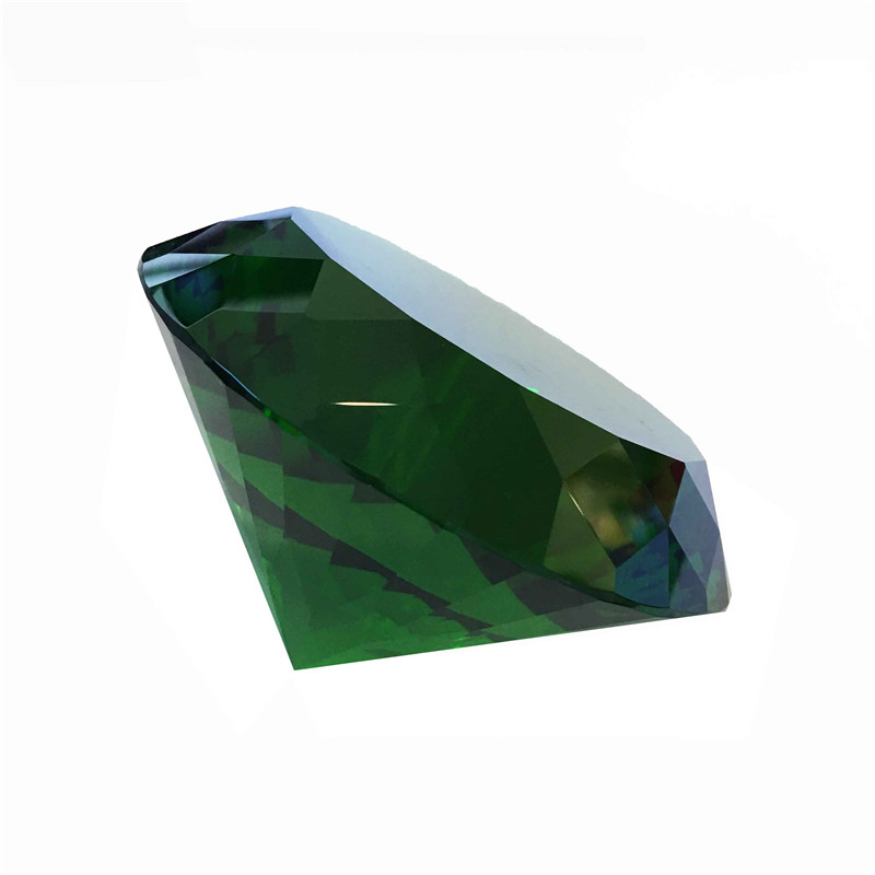 120mm 1pcs Multifaceted Dark Green Good Sales Crystal Diamond Paperweight Lamp Parts For Collection Big Sales