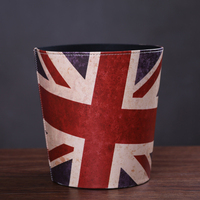 New European Style Vintage Leather Bin Can Be Used In American Creative Fashion House Storage Leather