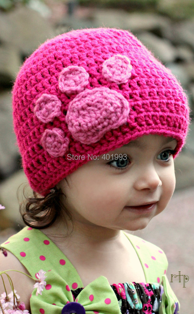 Neu Neugeborenes Baby Frühjahr Hüte Häkeln Handmade Baby Caps