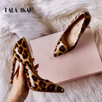 LALA IKAI High Heels Women Pumps Leopard Shoes PU Pointed Toe Office Lady Sexy 12 cm Wedding Chaussures Femme 014C3262 4