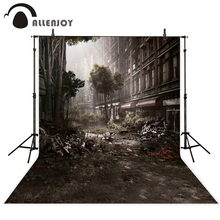 цена на Allenjoy background city Ruins Tree Realism cruel Lonely cold backdrop photography backdrops photo studio props 300*200cm