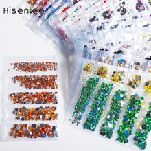 Top quality 1000pcs5 size packaging multicolor transparent acrylic rhinestone decoration Strass DIY nail art design