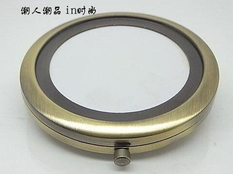 10 pcs espelho compacto diy metal portatil