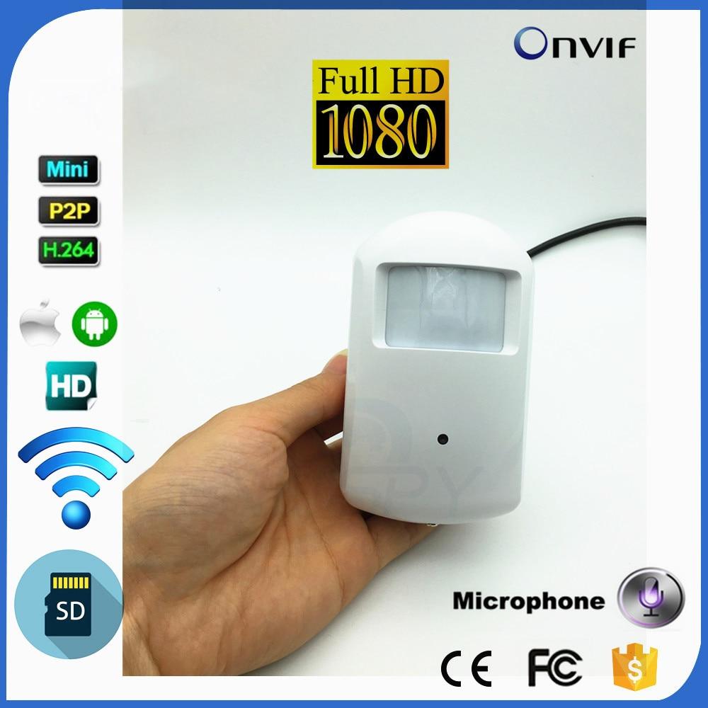 Пинхол Wi-Fi IP Камера 1080 P детектор движения Стиль HD ПИР Беспроводной IP Камера Wi-Fi P2P безопасности Micro SD карта аудио