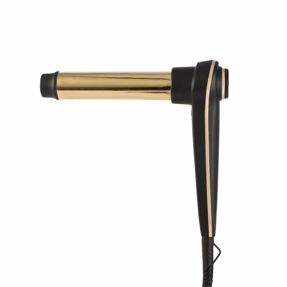 Hair Curling Iron with Even Heat 24K Gold Plated Long-lasting Curls & Digital Accuracy Temperature Display Hair Curler Wand