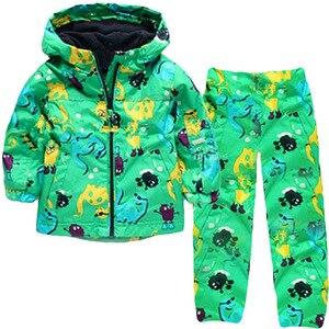 Image 2 - KEAIYOUHUO Autumn Winter Kids Clothes Windbreak Waterproof Boys Sets Raincoat Jackets+Pant Girls Sport Suit Children Clothing