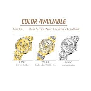 Image 5 - MISSFOX Butterfly Women Watches Luxury Brand Big Diamond 18K Gold Watch Waterproof Special Bracelet Expensive Ladies Wrist Watch