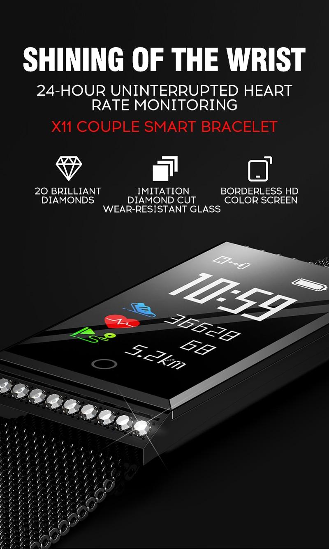 MAFAM Smart Bracelet Women Watch Waterproof Fitness Tracker Heart Rate Blood Pressure Sports Smart Band Notification Reminder (1)